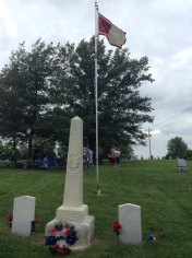 camden point battle flag at pleasant grove cemetery
