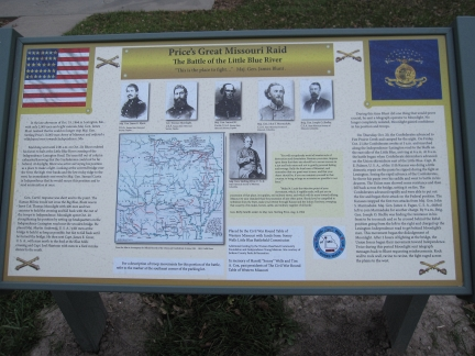 Little Blue Battlefield Memorial - Price's Great Missouri Raid